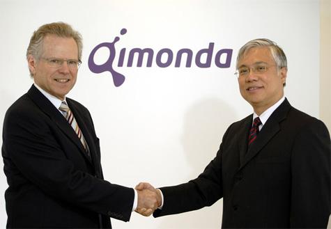 Infineon- en Qimonda-topmannen Wolfgang Ziebart en Kin Wah Loh