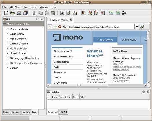 MonoDevelop screenshot (resized)