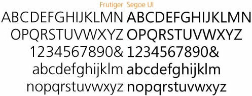 Microsoft Segoe versus Linotype Frutiger