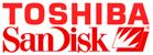 Logo's Toshiba en Sandisk
