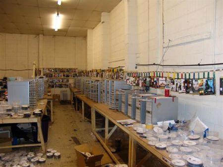 Illegale dvd-fabriek in Leyton (oost-Londen)