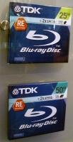 TDK Blu-ray schijfjes in de vitrine