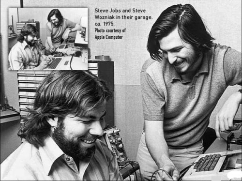 Steve Jobs en Steve Wozniak, de twee oprichters van Apple