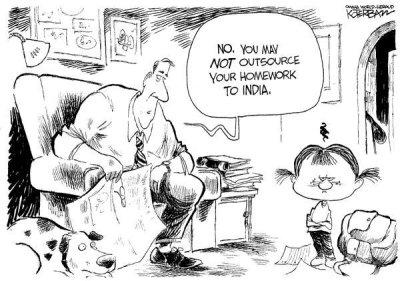 Outsourcing van werk naar India