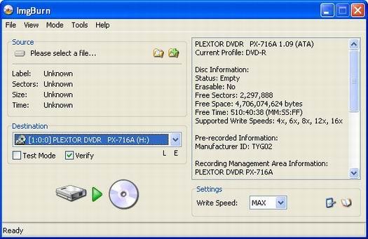 ImgBurn screenshot (resized)