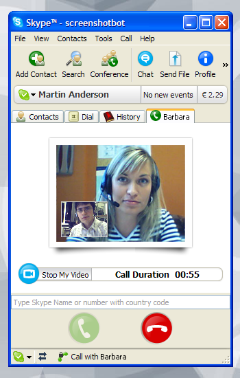 Skype for Windows - videochat