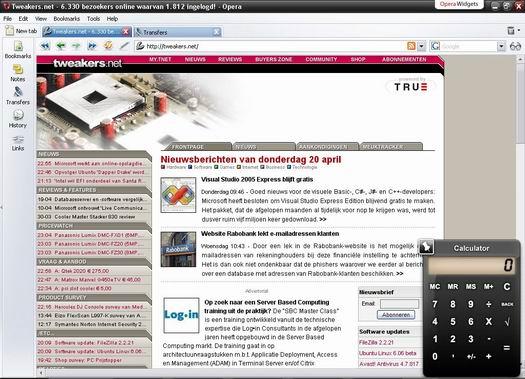 Opera 9.0 beta 1 screenshot (resized)