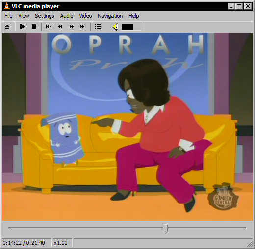 VLC media player 0.8.5-test3 - South Park 10x05