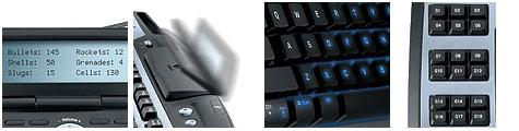 Logitech G15 - voorkant lcd-scherm, opklapbaarheid scherm, verlichte toetsen en macroknoppen