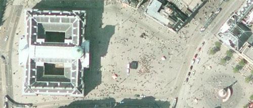 Google Maps - Satellietfoto Dam (Amsterdam)