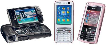 Nokia N93, N73 en N72