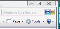 Internet Explorer 7 - zoekveld