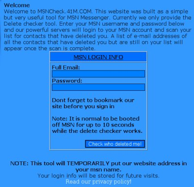 MSN Messenger-phishingsite