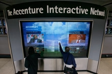Accenture Interactive Network touchscreen 3