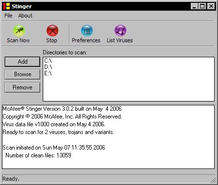 McAfee Stinger 3.0.2