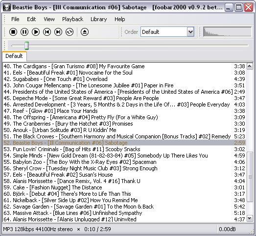 Foobar2000 0.9.2 beta 2 screenshot