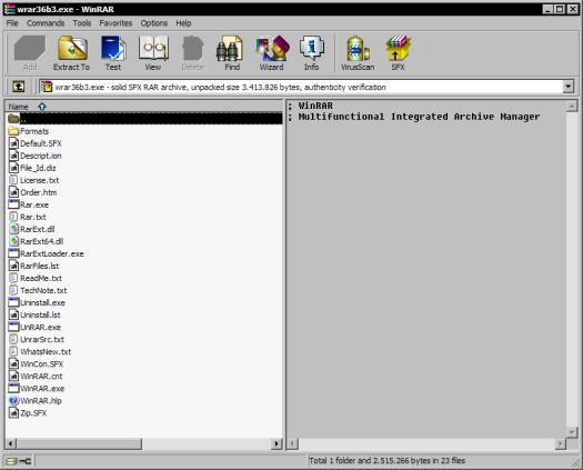 WinRAR 3.60 beta 3