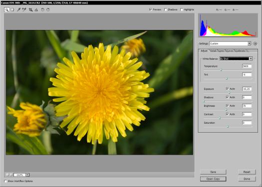 Adobe Camera Raw 3.4 - Canon EOS 30D (klein)