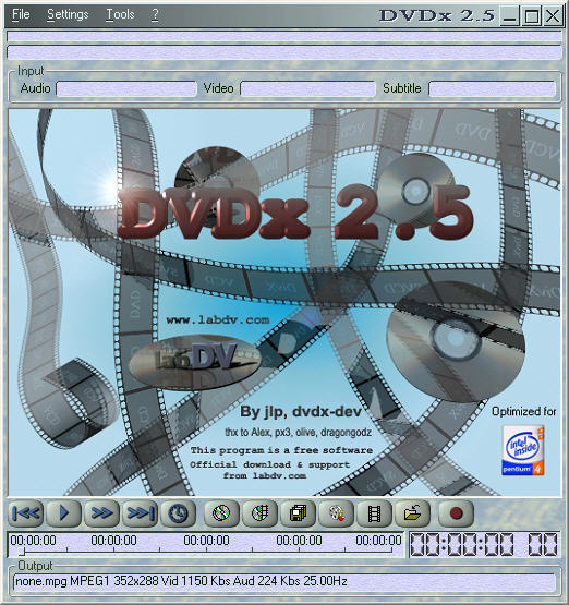 DVDx 2.5.1 screenshot