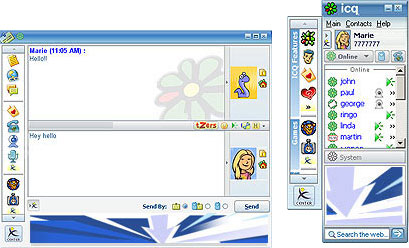 ICQ 5.1 screenshot (klein)