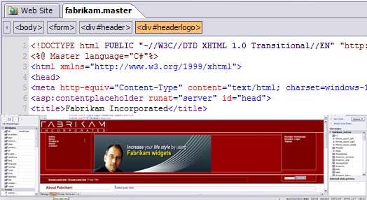 Microsoft Expression Web Designer (low quality pic)