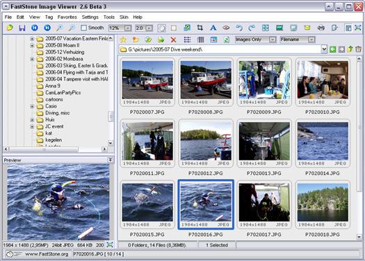 FastStone Image Viewer 2.6 beta 3 screenshot (resized)