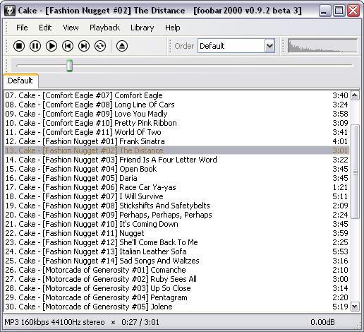 Foobar2000 0.9.2 beta 3 screenshot