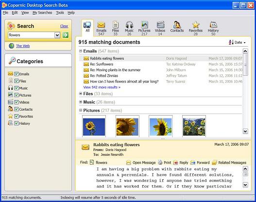 Copernic Desktop Search beta