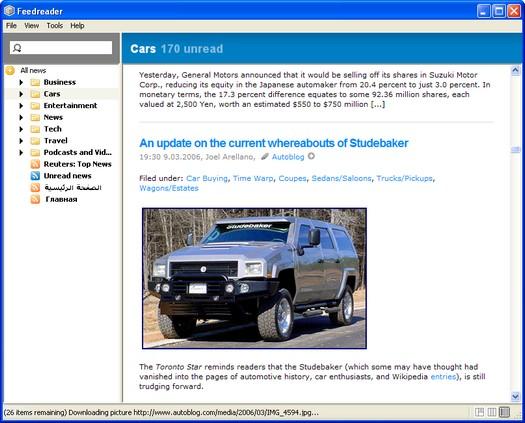 Feedreader screenshot (resized)