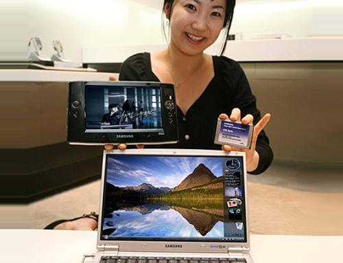 Samsung Q1 en Q30 met flitsgeheugen (Nand flash-memory in solid state disk)