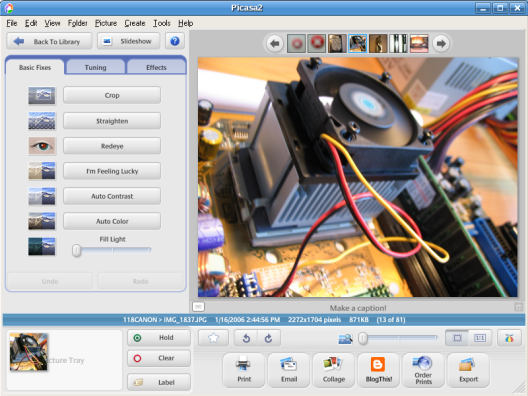 Google Picasa for Linux (klein)