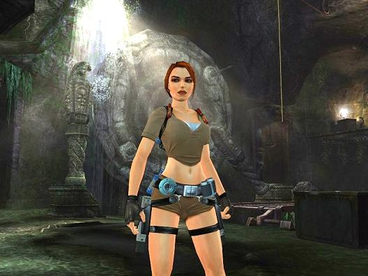 Lara Croft in Tomb Raider: Legend