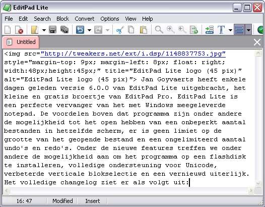 EditPad Lite 6.0.0 screenshot