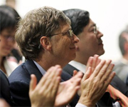Microsoft-topman Bill Gates en Chinees president Hu Jintao