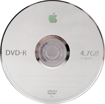 Apple 4x DVD-R media - dvd