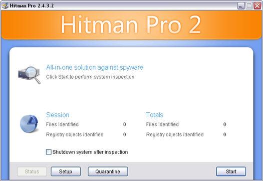 Hitman Pro 2.4.3 screenshot (resized)