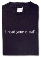 'I read your e-mail' T-shirt (kleiner)