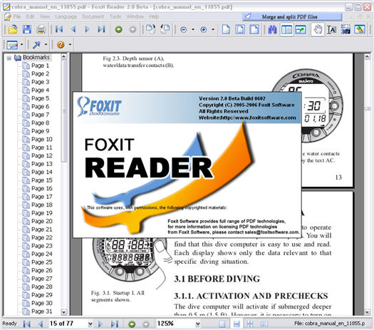 Foxit Reader 2.0 screenshot (resized)