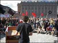 Demonstratie voor filesharing in Stockholm