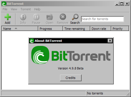 BitTorrent 4.9.8 bèta