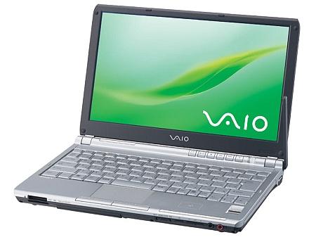Sony Vaio TX3 (voorkant, open)