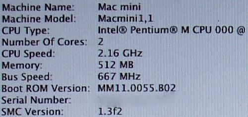 Mac mini uitgerust met Merom-chip