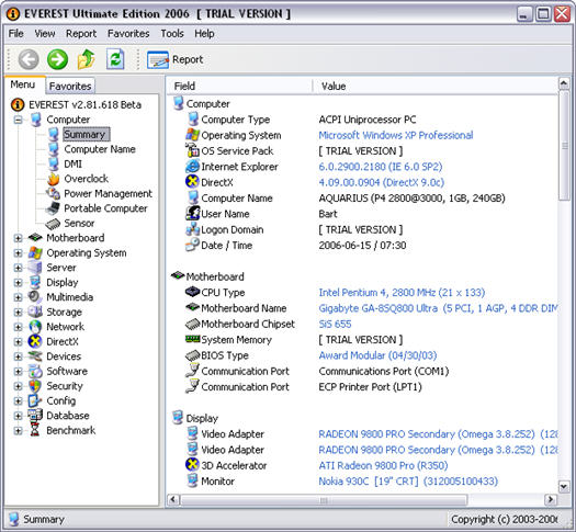 Everest Ultimate Edition 2.81 beta build 618 screenshot (resized)