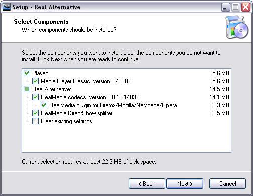 Real Alternative 1.49 screenshot