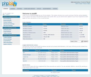 De nieuwe Admin Control Panel van phpBB 3.0