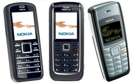 Nokia 6080, 6151 en 1110i