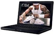 MacBook met 50 Cent-wallpaper