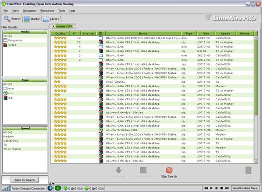 LimeWire screenshot (resized)