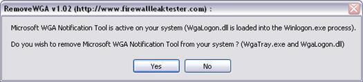 RemoveWGA 1.02 screenshot (resized)