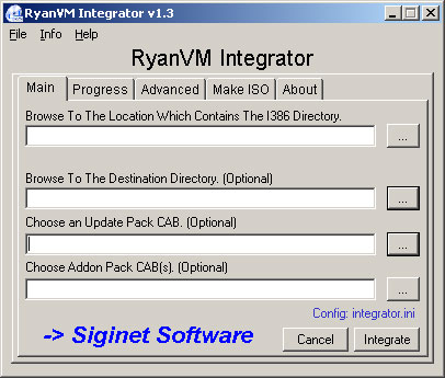 RVM Integrator 1.3.0 screenshot